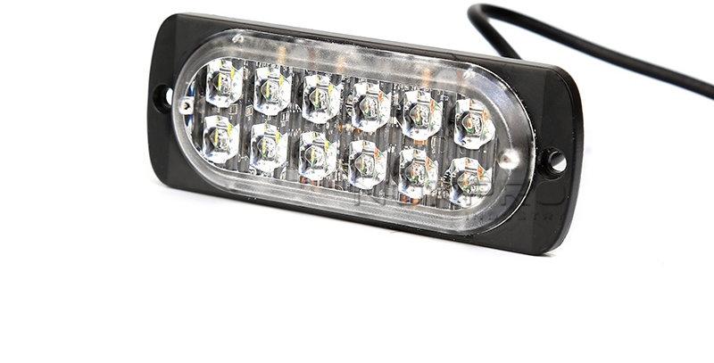 12LED Surface Super Slim Mount Warning Light 12V 24V,LED Strobe Grill  Lights 183 | Nokpro Industry