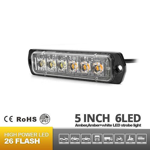 6 LED Surface Mount Warning Light 12V 24V R65 N181-6