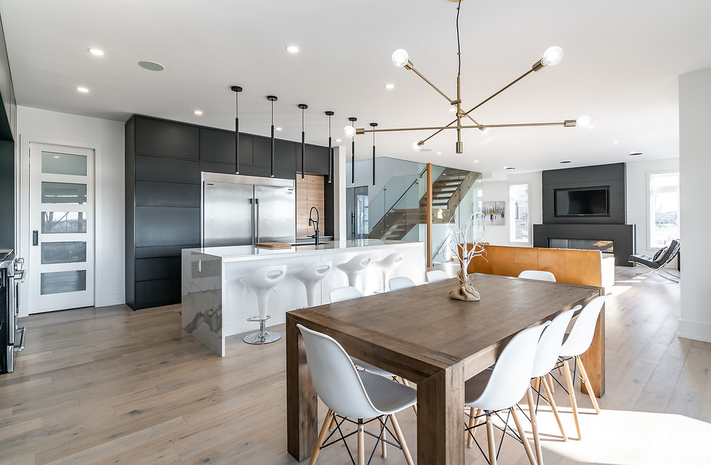 Beautiful modern kitchen design in Niagara