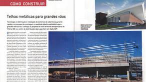 MATÉRIA DA REVISTA TÉCHNE | Telhas zipadas no novo Aeroporto de Vitória-ES.