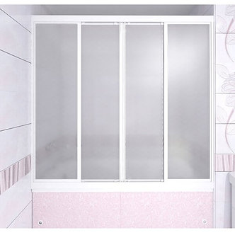 "Душевая ширма ""Купе"" на ванну 1490*1400 (стекло матовое)"