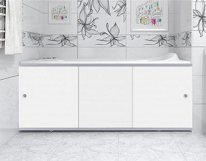 Экран алюминиевый 1,48м (Белый)