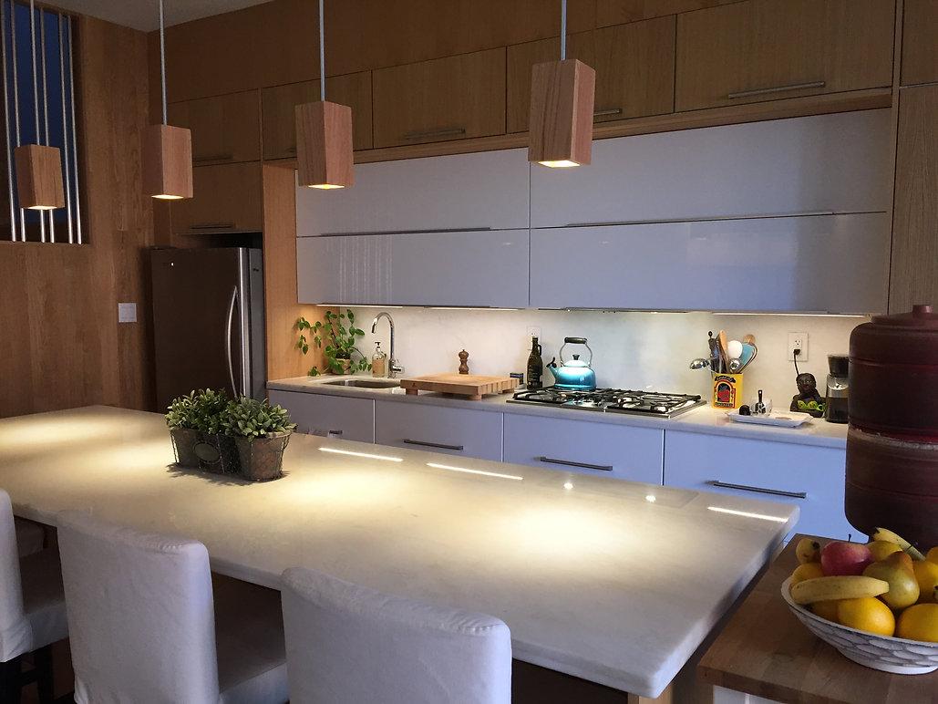 Beautifully arranged, organized, minimalist kitchen