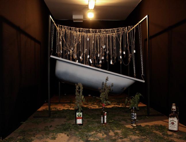 Ausstellungsansicht. Ich bin Zersetzung, David Prieth, Foto: Bettina Siegele