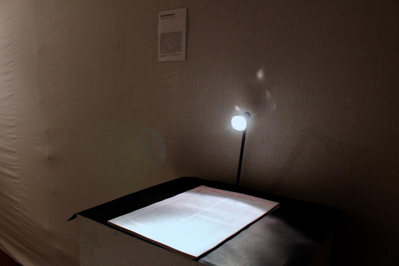 Ausstellungsansicht. Denkwege zum Thema Not, Rene Nuderscher, Foto: Bettina Siegele
