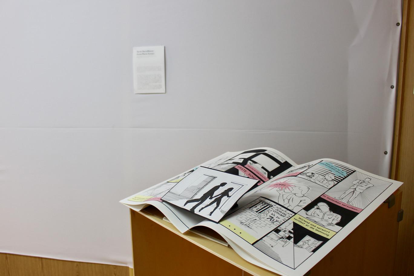 Ausstellungsansicht. Himmel und Hölle, Sarah Berndlbauer  Anna-Maria Kovacs, Foto: Bettina Siegele