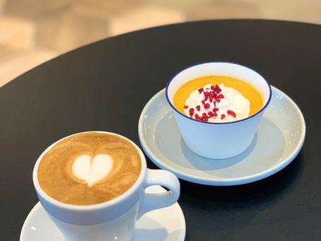 〜エスプレッソマキアートと手作りかぼちゃ🎃プリン🍮午後のコーヒーブレイクにいかがでしょうか?〜  #かぼちゃプリン#おいしい#😍#志村電機珈琲焙煎所#かぼちゃプリン#デザ
