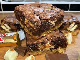 Triple chocolate flapjack brownies!