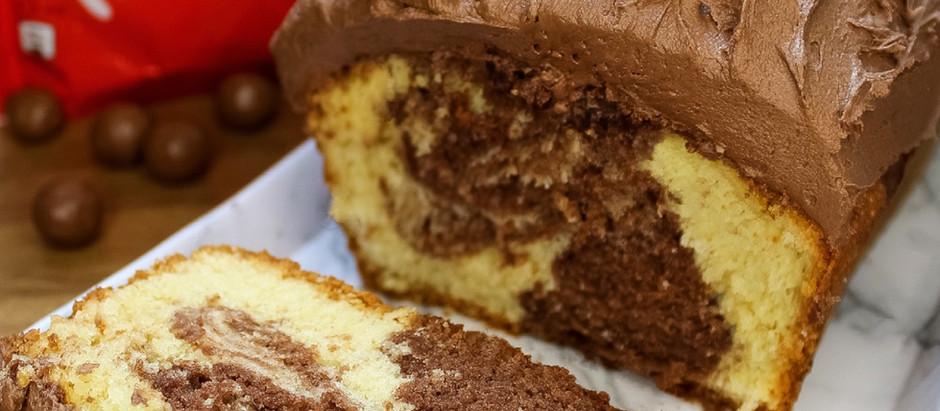 Marbled Malteser loaf cake!