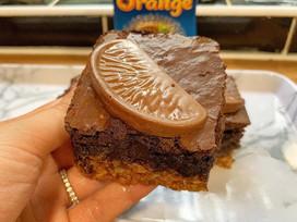Chocolate orange flapjack brownies!