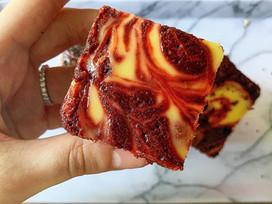 Red velvet cheesecake swirl brownies!