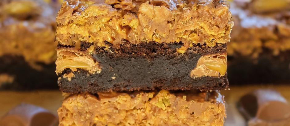 Cadbury caramel cornflake brownies!
