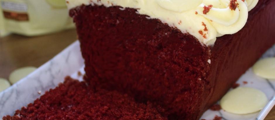 Milkybar red velvet loaf cake!