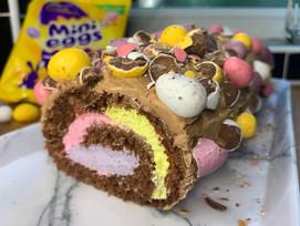Mini egg Swiss roll!