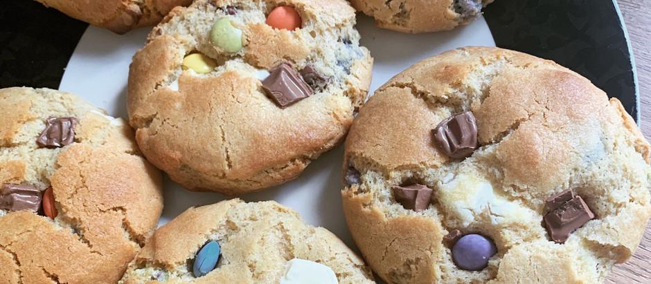 Smartie rainbow cookies!