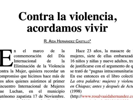 Contra la violencia, acordamos vivir