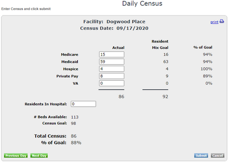 Facility Census