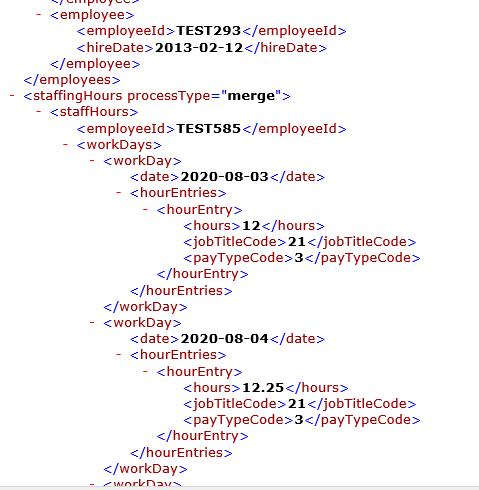 Sample PBJ XML Data