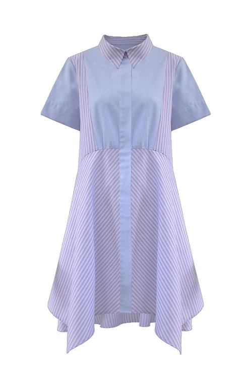 Cotton Asymmetrical Dress_Red