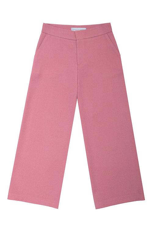 Cropped Pants -Rose