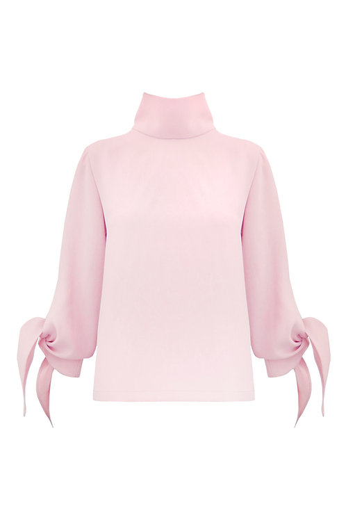 Mock Neck Top_ Pink