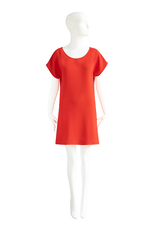 Maria Dress_tangerine red