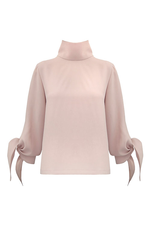 Mock Neck Top - Sand