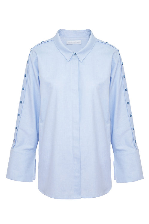 Oversized Shirt - Light Blue