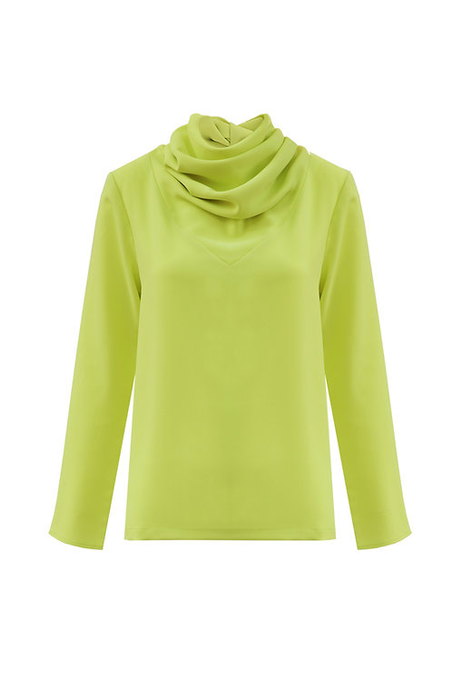 Scarf Top - Lime