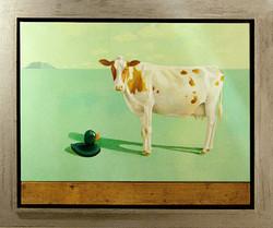 Koe op droog water (verkocht)