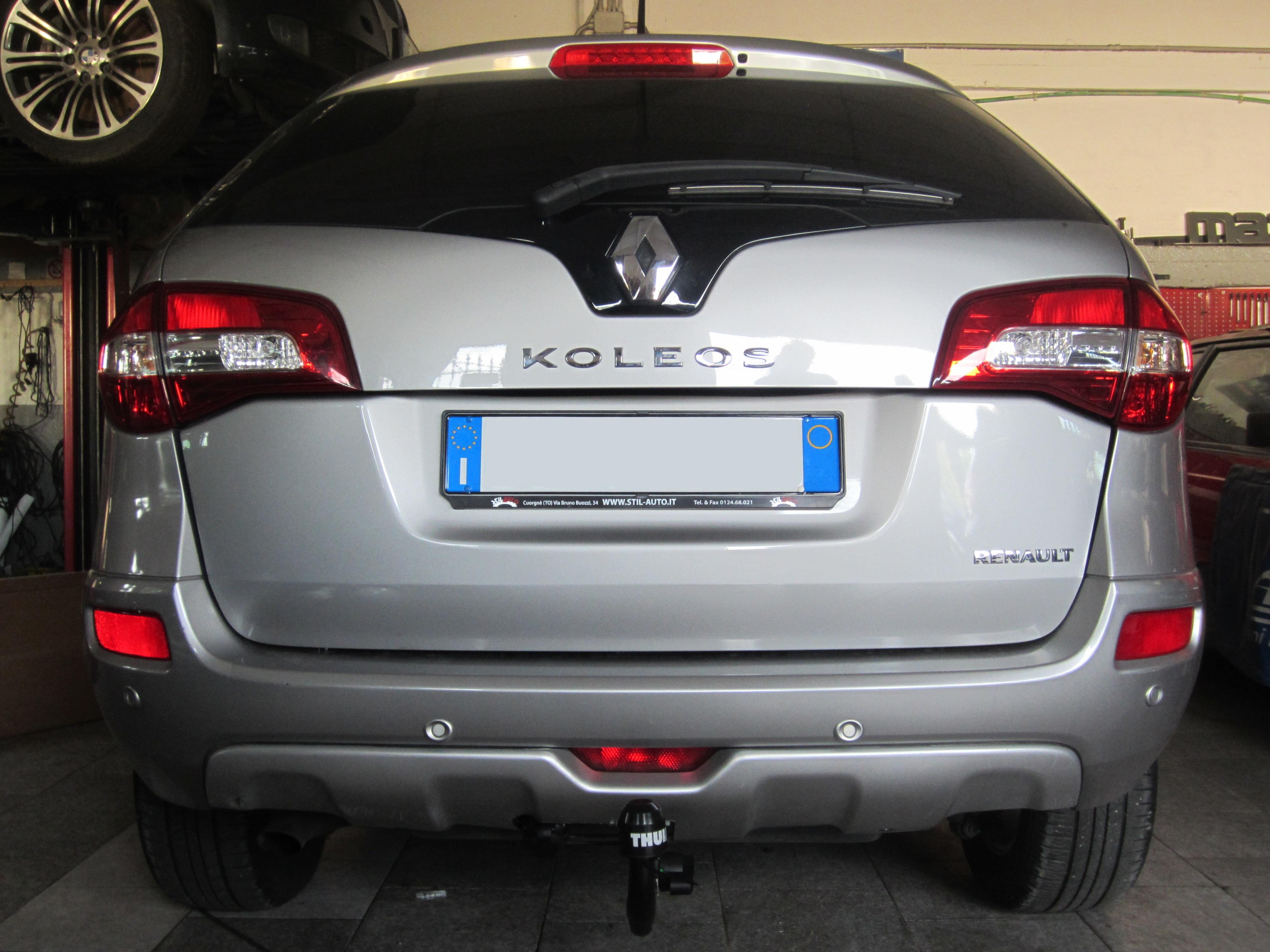 Installazione gancio traino estraibile su Renault Koleos