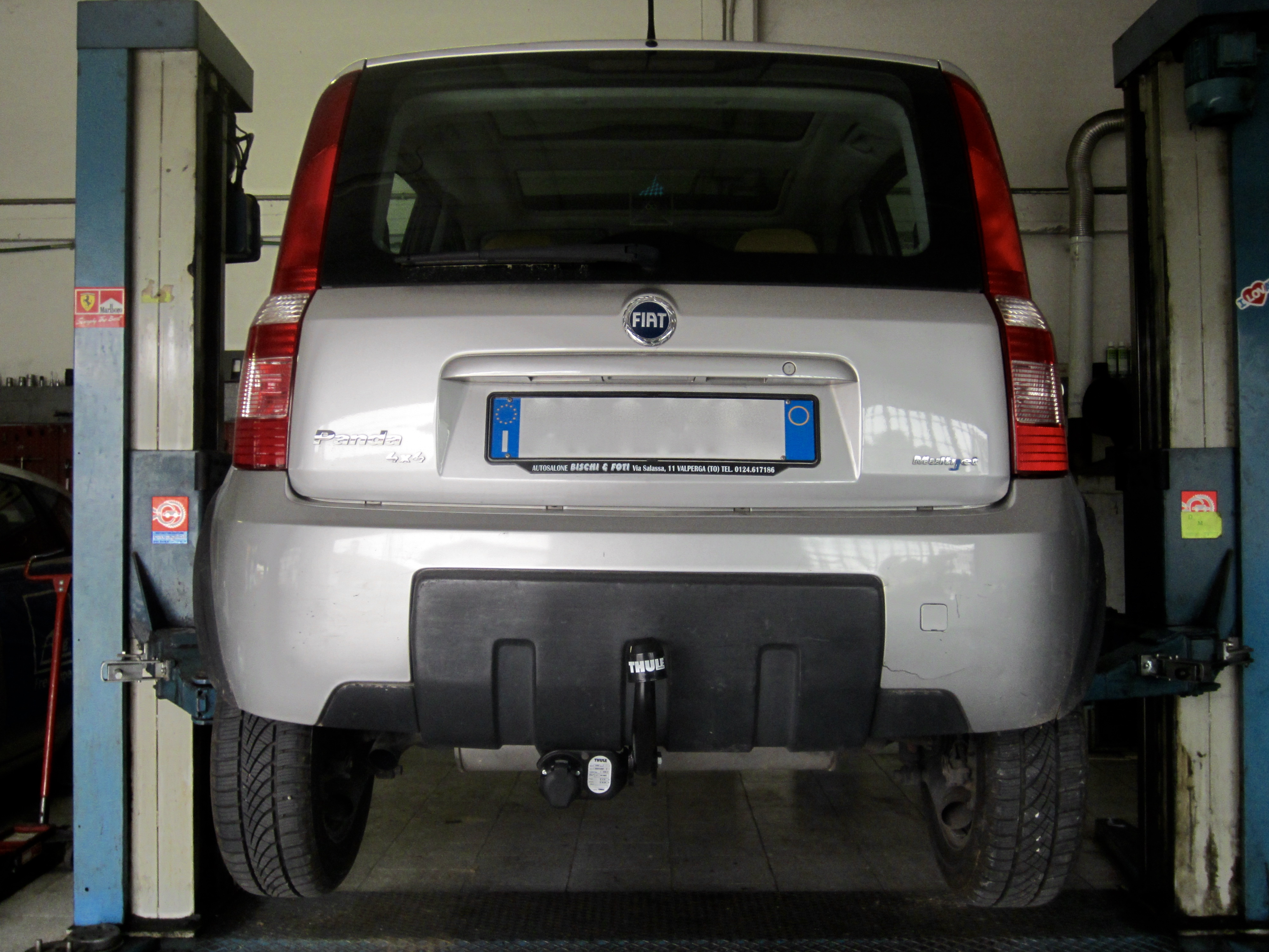 Installazione gancio traino estraibile su Fiat Panda