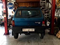 Installazione gancio traino fisso su Fiat Panda 4x4