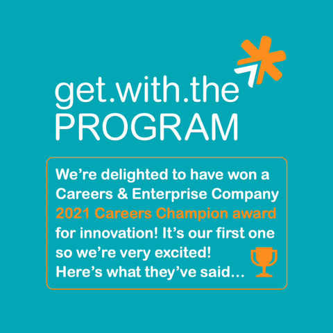 We've been recognised as a Careers Champion as part of the National Careers week!