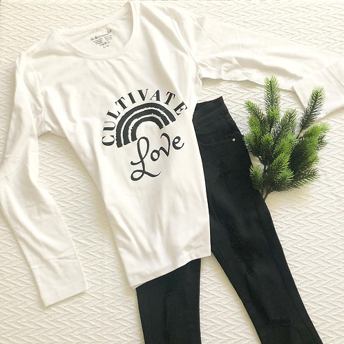 Graphic LS Tee Cultivate Love White
