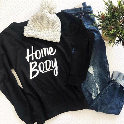 Graphic Sweatshirt HomeBody Black