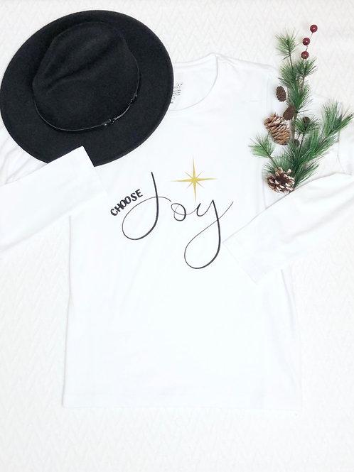 Graphic LS Tee Choose Joy White