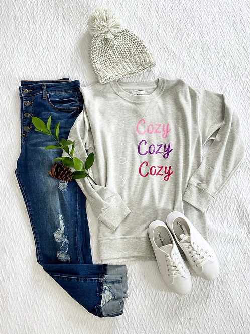 Graphic Sweatshirt Stay Cozy