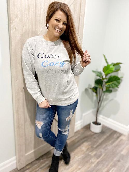 Graphic Sweatshirt Cozy Cozy Cozy