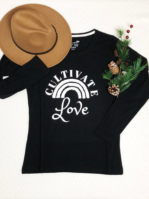 Graphic LS Tee Cultivate Love Black