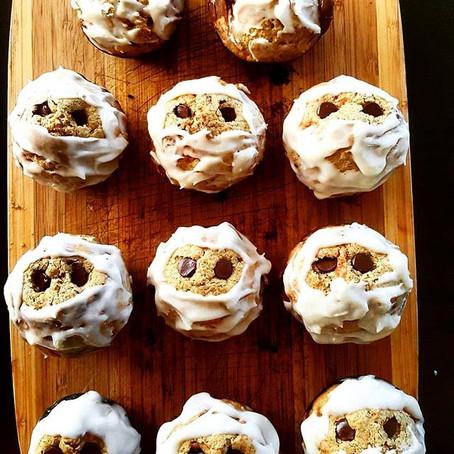 Banana-Chocolate chip  mummy  (with one mummy- mommy)muffins