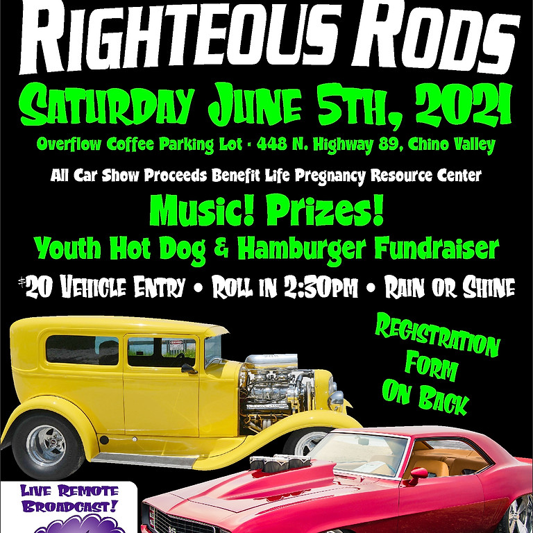 4th Annual Righteous Rods Car Show - Trophy Winners!!