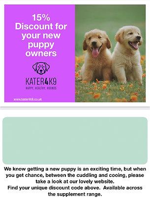 Puppy pack vouchers