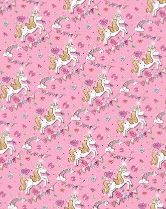 2 x Unicorn Gift Wrap Sheet & Tags