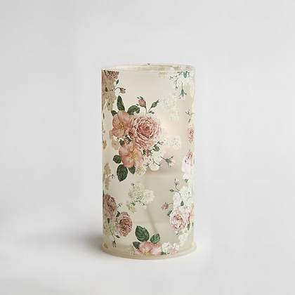 Pink Floral Bio Oil Candle Lamp