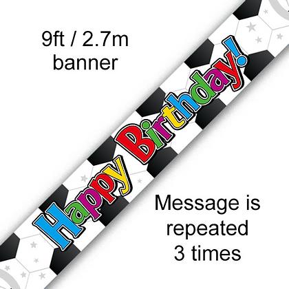 Happy Bithday Football Banner