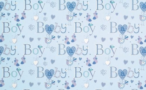 2 x Baby Boy Gift Wrap Sheet & Tags
