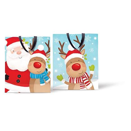 Large Reindeer/Santa Gift Bag