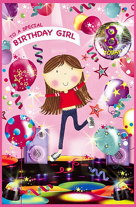 Age 7 or 8 Personalise Age Sticker Card