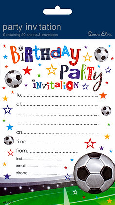 20 Birthday Party Invitations